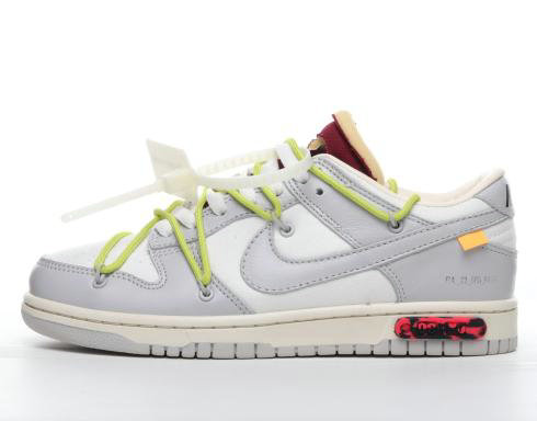 Where To Buy 2022 Cheap Wholesale Off-White x Nike Dunk Low 04 of 50 OW Grey Green White DM1602-106 - www.wholesaleflyknit.com