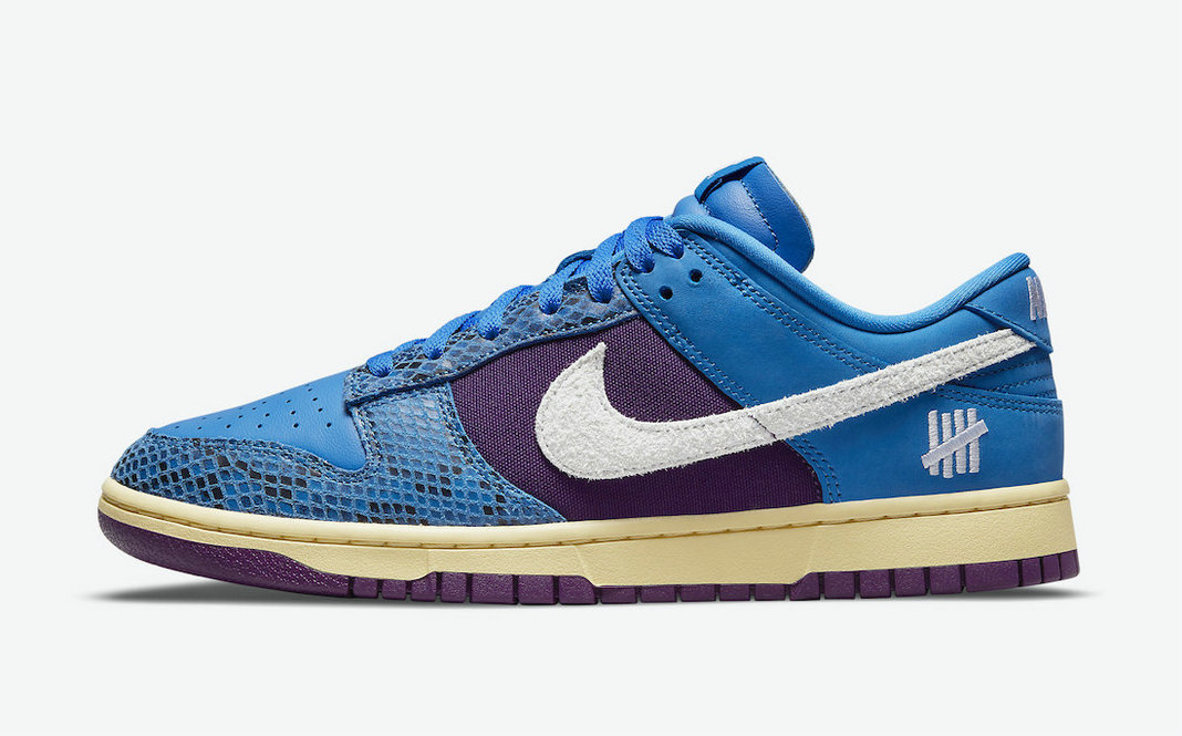 Where To Buy 2022 Cheap Wholesale Undefeated x Nike Dunk Low 5 On It Signal Blue White-Night Purple DH6508-400 - www.wholesaleflyknit.com