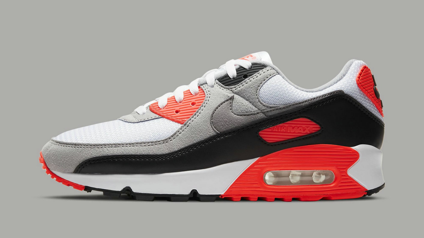 Where To Buy 2022 Cheap Wholesale Womens Nike Air Max 3 Air Max 90 Infrared White Black-Cool Grey-Radiant Red CT1685-100 - www.wholesaleflyknit.com