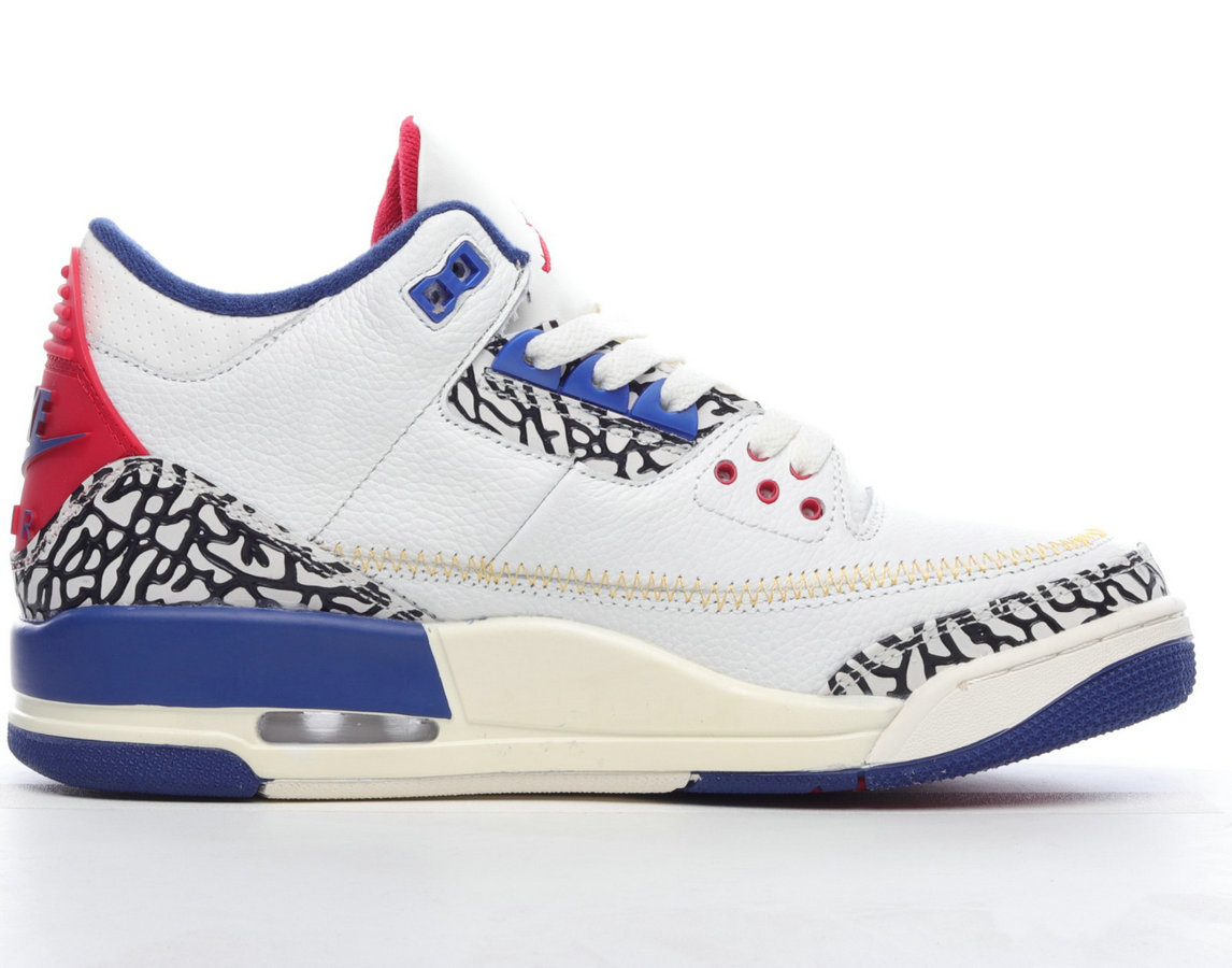 Where To Buy 2022 Cheap Wholesale Womens Nike Nike Air Jordan 3 Retro SP White Blue Red Cement Grey DH3434-112 - www.wholesaleflyknit.com