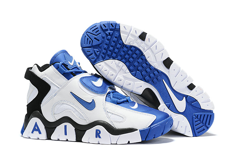 Where To Buy Cheap Wholesale Nike Air Barrage Mid Blue Black White - www.wholesaleflyknit.com