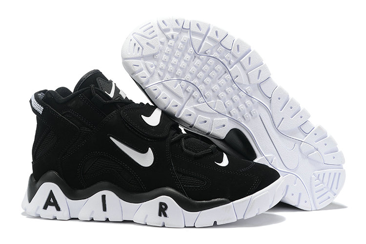 Where To Buy Cheap Wholesale Nike Air Barrage Mid QS Black White - www.wholesaleflyknit.com