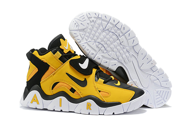 Where To Buy Cheap Wholesale Nike Air Barrage Mid QS Black Yellow White - www.wholesaleflyknit.com