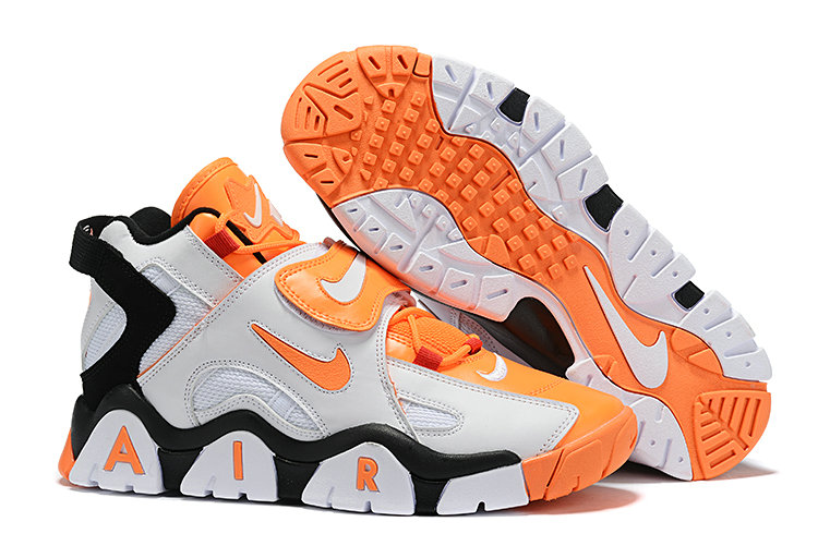 Where To Buy Cheap Wholesale Nike Air Barrage Mid QS Orange White CD9329-004 - www.wholesaleflyknit.com