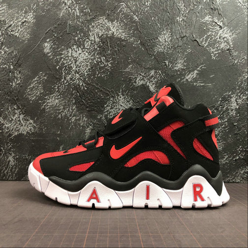 Where To Buy Cheap Wholesale Nike Air Barrage Mid QS University Red Black-White CD9329-006 - www.wholesaleflyknit.com