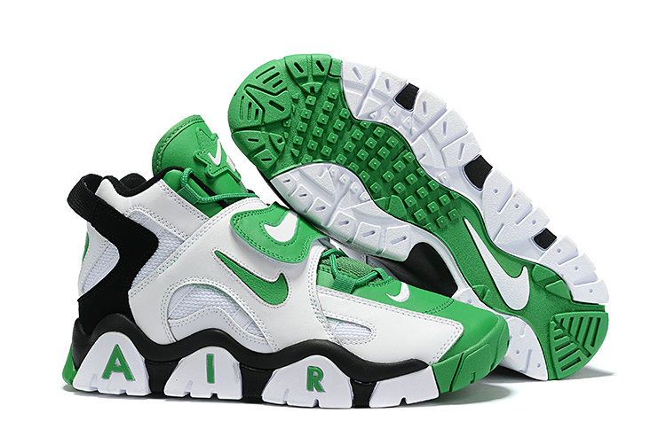 Where To Buy Cheap Wholesale Nike Air Barrage Mid Quickstrike Black White Green - www.wholesaleflyknit.com