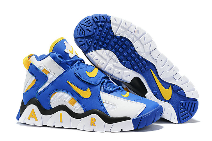 Where To Buy Cheap Wholesale Nike Air Barrage Mid White Laser Orange-Racer Blue-Black AT7847-100 - www.wholesaleflyknit.com