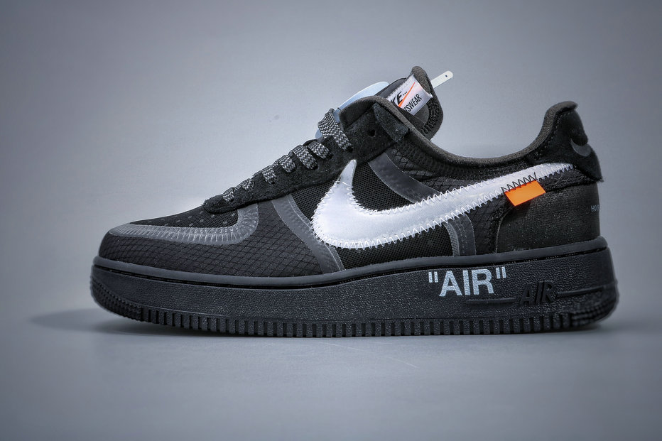 Where To Buy Cheap Wholesale Nike Air Force 1 Low Off-White Black Cone White AO4606-001 - www.wholesaleflyknit.com
