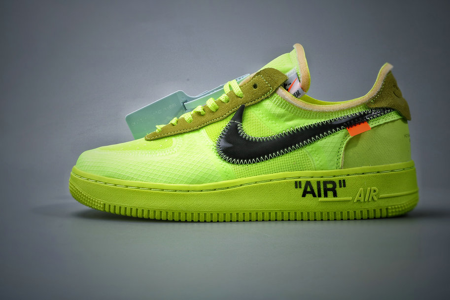 Where To Buy Cheap Wholesale Nike Air Force 1 Low Off-White Volt Hyper Jade-Cone-Black AO4606-700 - www.wholesaleflyknit.com