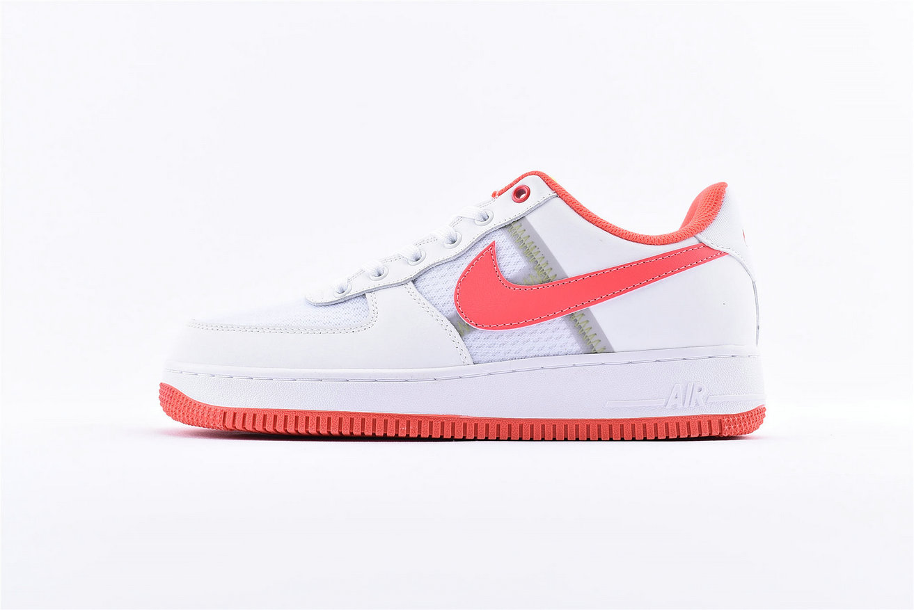 Where To Buy Wholesale Cheap Nike Air Force 1 Low White Bright Crimson-Barely Volt CI0060-102 - www.wholesaleflyknit.com