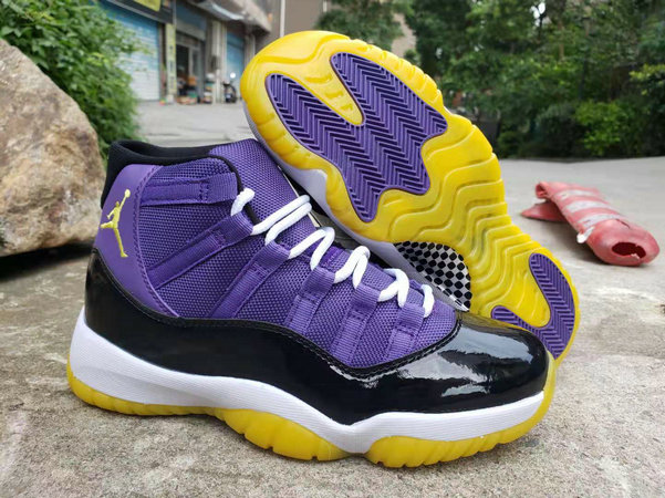 Where To Buy Cheap Wholesale Nike Air Jordan 11 Purple Black White Yellow - www.wholesaleflyknit.com