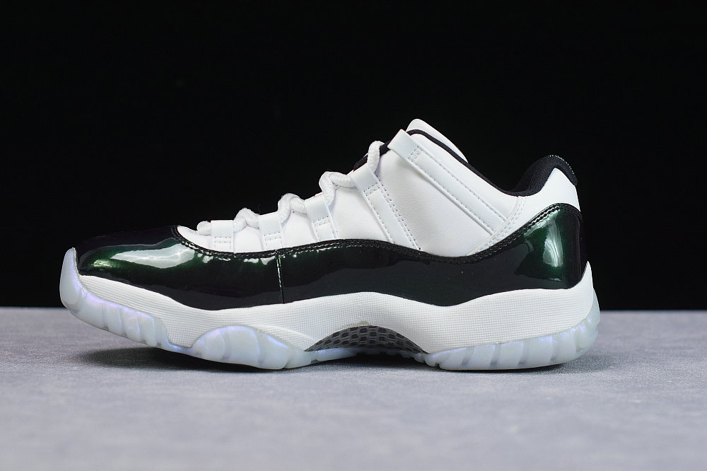Where To Buy Cheap Wholesale Nike Air Jordan 11 Retro Low Emerald Rise White Black 528895 145 - www.wholesaleflyknit.com