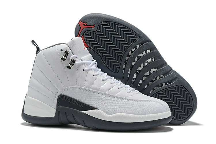 Where To Buy Cheap Wholesale Nike Air Jordan 12 White Dark Grey-Gym Red - www.wholesaleflyknit.com