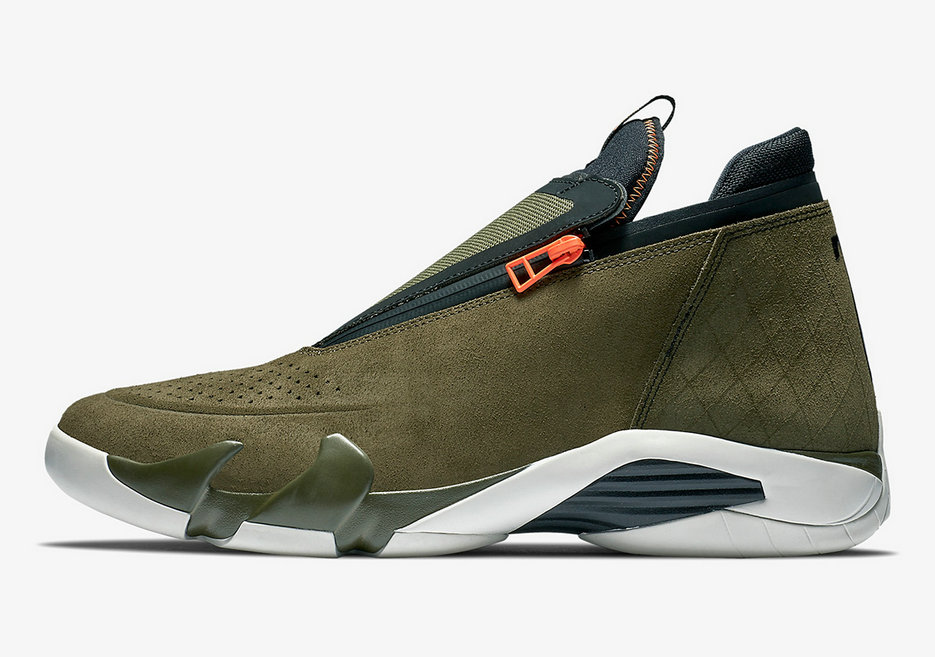 Where To Buy Cheap Wholesale Nike Air Jordan 14 Jumpman Zipper Olive Green - www.wholesaleflyknit.com