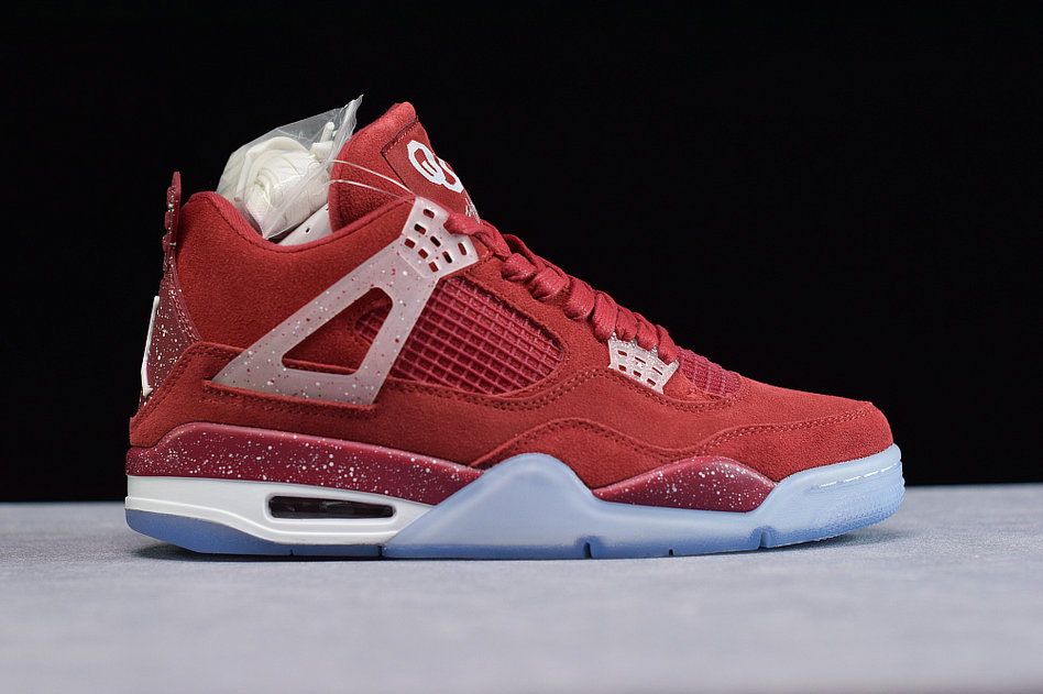 Where To Buy Cheap Wholesale Nike Air Jordan 4 Retro Claret Red White AJ4-1032076 - www.wholesaleflyknit.com