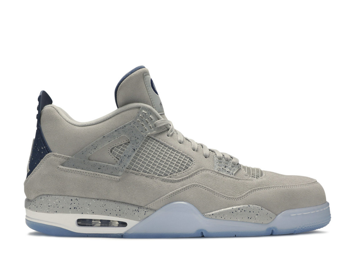 Where To Buy Cheap Wholesale Nike Air Jordan 4 Retro Georgetown Pe Pewter Grey College Navy White AJ4-1043505 - www.wholesaleflyknit.com