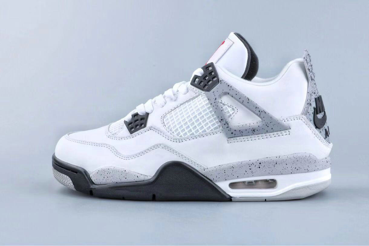 Where To Buy Cheap Wholesale Nike Air Jordan 4 Retro Og Bg white Cement 836016 192 - www.wholesaleflyknit.com