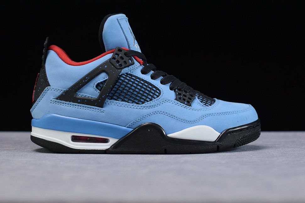 Where To Buy Cheap Wholesale Nike Air Jordan 4 Retro Travis Scott Cactus Jack TS University Blue Black Bleu Carolina Noir 308497-406 - www.wholesaleflyknit.com