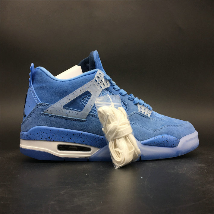 Where To Buy Cheap Wholesale Nike Air Jordan 4 Retro UNC PE Sky Blue White AJ4-1032070 - www.wholesaleflyknit.com