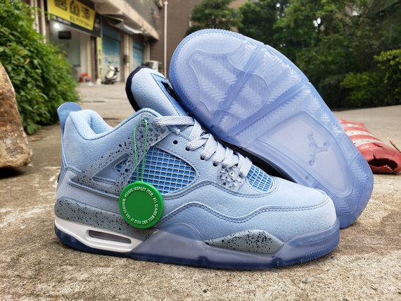 Where To Buy Cheap Wholesale Nike Air Jordan 4 Retro Water Blue White - www.wholesaleflyknit.com
