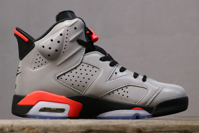 Where To Buy Wholesale Cheap Nike Air Jordan 6 JSP 3M Reflective Silver Black-Infrared CI4072-001 - www.wholesaleflyknit.com