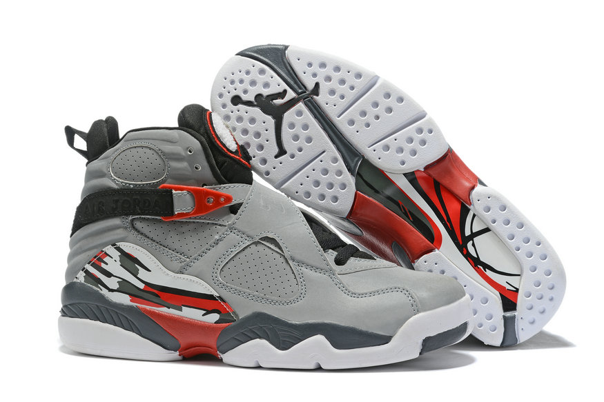 Where To Buy Cheap Wholesale Nike Air Jordan 8 Retro Grey Black Red White - www.wholesaleflyknit.com
