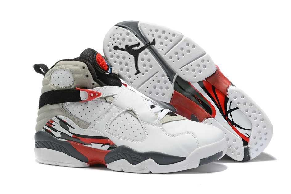 Where To Buy Cheap Wholesale Nike Air Jordan 8 Retro White Grey Red 130169-100 - www.wholesaleflyknit.com