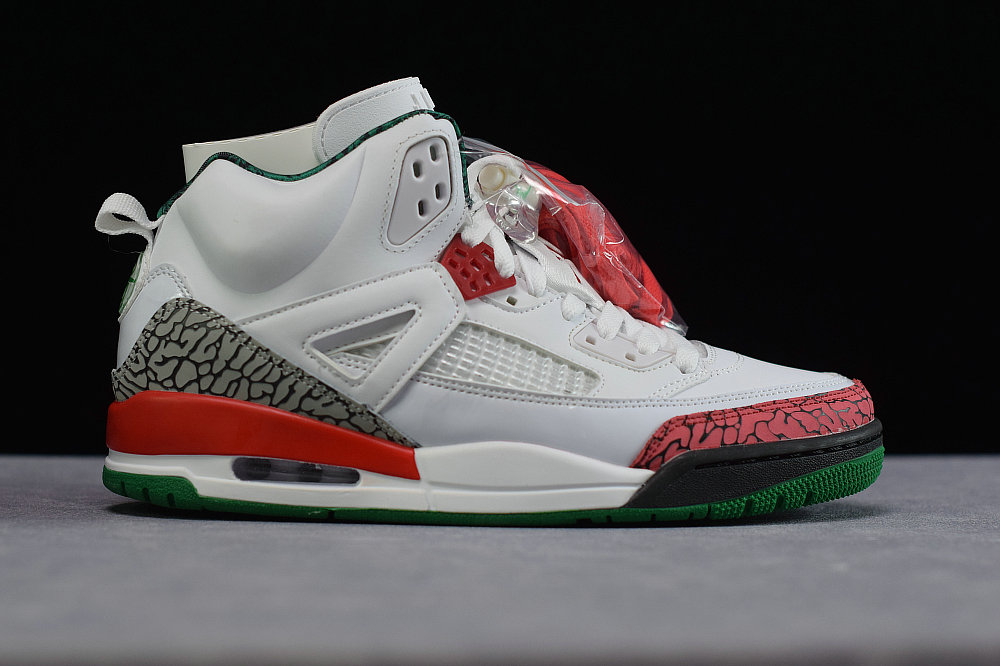 Where To Buy Cheap Wholesale Nike Air Jordan spizike White Cement Grey-Classic Green-Varsity Red 315371-125 - www.wholesaleflyknit.com