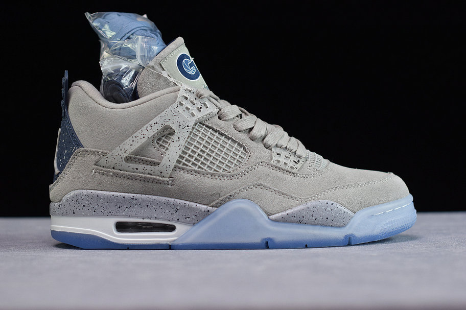 Where To Buy Cheap Wholesale Nike Air Jordan4 Georgetown Hoyas PE Grayness White AJ4-1043505 - www.wholesaleflyknit.com