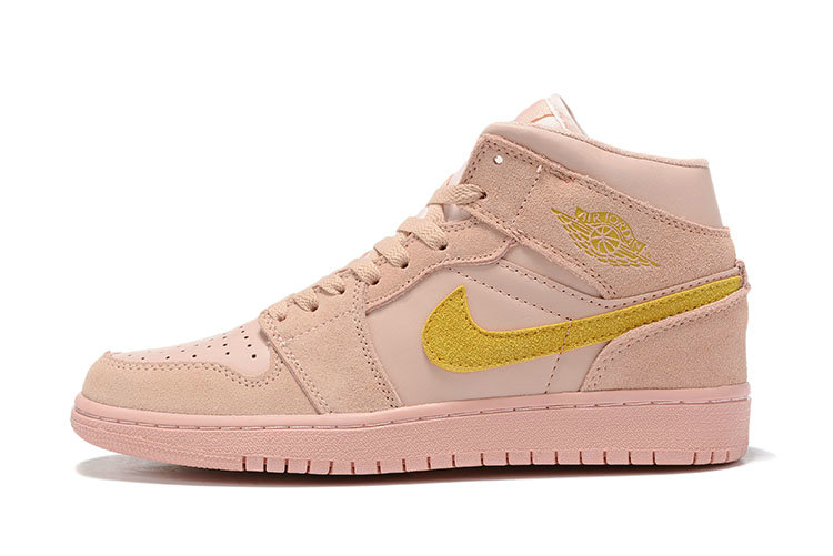 Where To Buy Cheap Wholesale Nike Air Jordans 1 High Premium Coral Stardust Club Gold-Coral Stardust BQ6931-600 - www.wholesaleflyknit.com