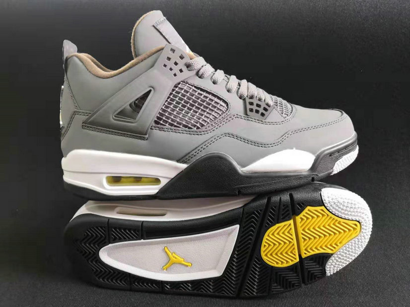 Where To Buy Cheap Wholesale Nike Air Jordans 4 Wolf Grey Black Metallic Gold Yellow White - www.wholesaleflyknit.com