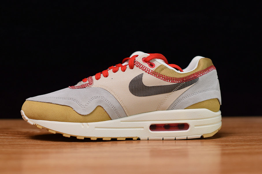 Where To Buy Cheap Wholesale Nike Air Max 1 Club Gold Black-Pure Platinum-Desert Sand-Sail-University Red 858876-713 - www.wholesaleflyknit.com