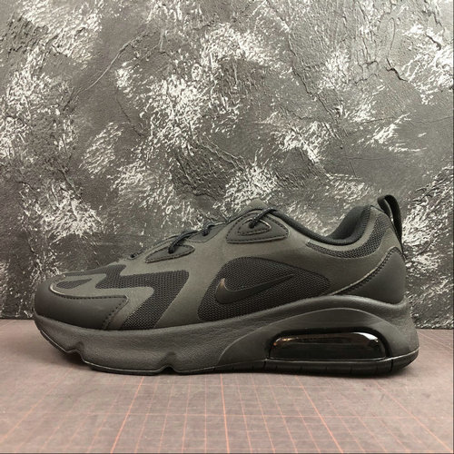 Where To Buy Cheap Wholesale Nike Air Max 200 All Black Noir AQ2568-003 - www.wholesaleflyknit.com