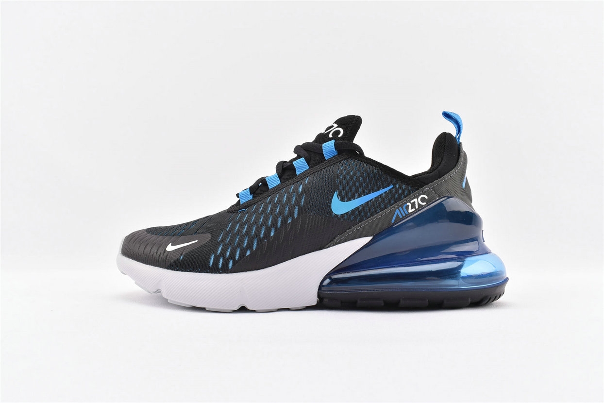 Where To Buy Wholesale Cheap Nike Air Max 270 Black Photo Blue-Blue Fury-Pure Platinum-Anthracite-White AH8050-019 - www.wholesaleflyknit.com