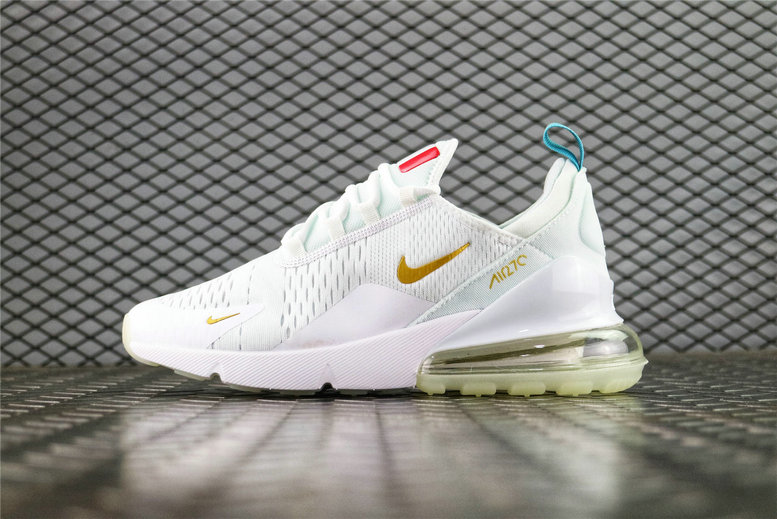 Where To Buy Wholesale Cheap Nike Air Max 270 Flyknit FIFA World Cup French Champion White Gold AH8050-119 - www.wholesaleflyknit.com