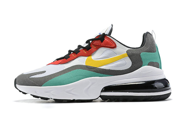 Where To Buy Wholesale Cheap Nike Air Max 270 React Bauhaus Phantom University Gold-University Red-Black-Kinetic Green-Hyper Royal AO4971-002 - www.wholesaleflyknit.com