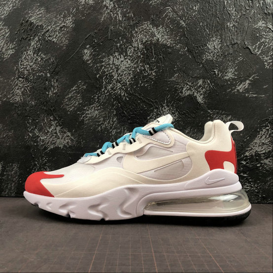 Where To Buy Cheap Wholesale Nike Air Max 270 React White Bright Red Blanc Brillant AO4971-003 - www.wholesaleflyknit.com