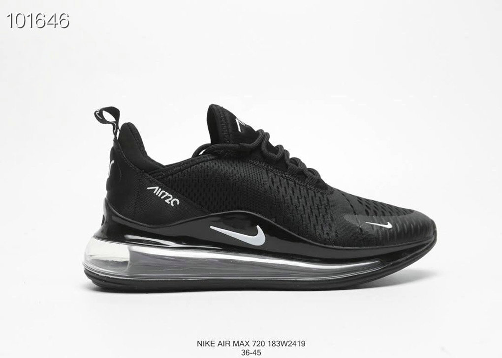 Where To Buy Wholesale Cheap Nike Air Max 720 V2 Womens Triple Black - www.wholesaleflyknit.com