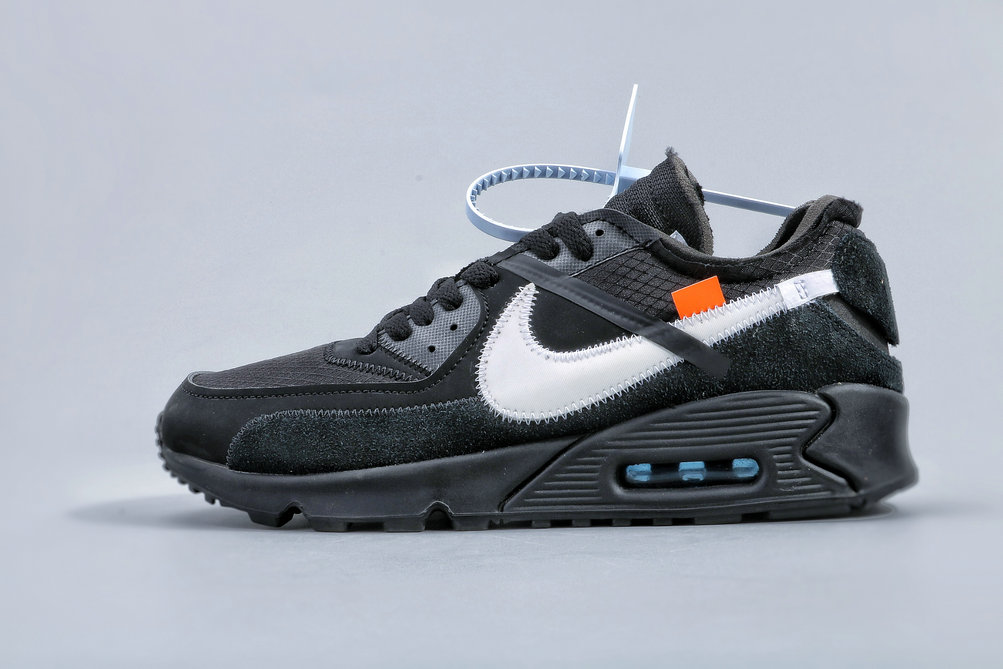 Where To Buy Cheap Wholesale Nike Air Max 90 Off-White Black-Cone-White AA7293-001 - www.wholesaleflyknit.com