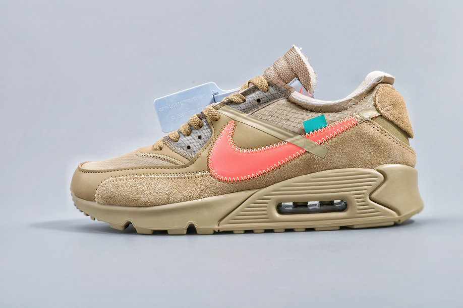Where To Buy Cheap Wholesale Nike Air Max 90 Off-White Desert Ore AA7293-200 - www.wholesaleflyknit.com