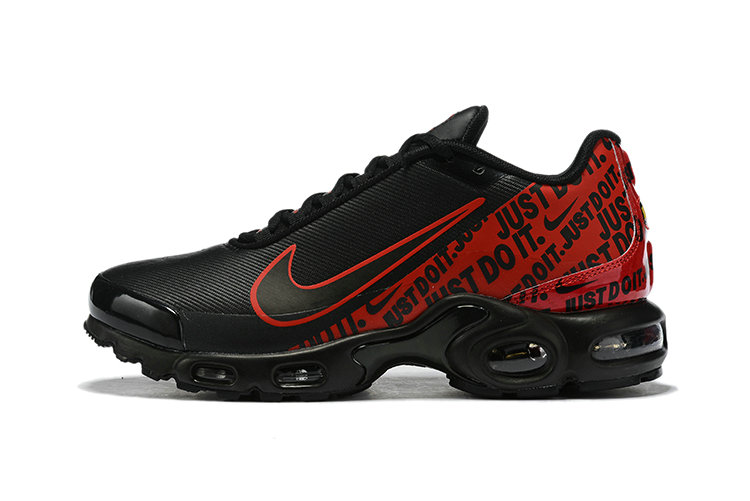 Where To Buy Wholesale Cheap Nike Air Max Plus Just Do It Black Red - www.wholesaleflyknit.com