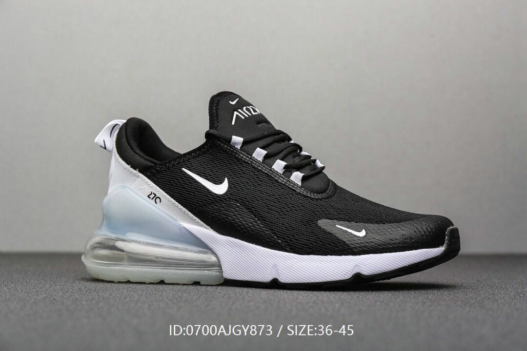 Where To Buy Cheap Wholesale Nike Air Maxs 270 Black White - www.wholesaleflyknit.com