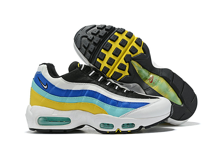 Where To Buy Cheap Wholesale Nike Air Maxs 95 Blue Jade Yellow White - www.wholesaleflyknit.com