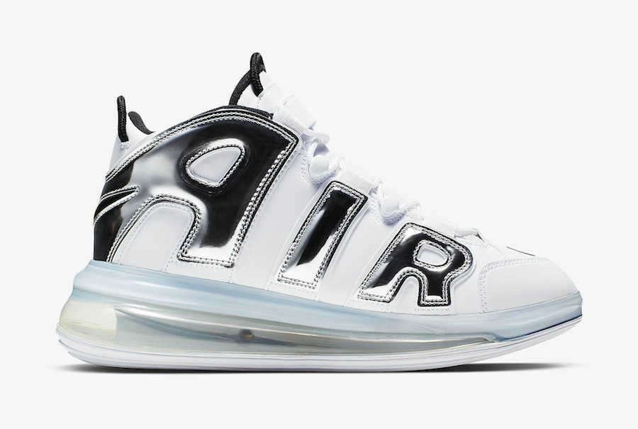 Where To Buy Cheap Wholesale Nike Air More Uptempo 720 QS White Chrome-Black BQ7668-100 - www.wholesaleflyknit.com