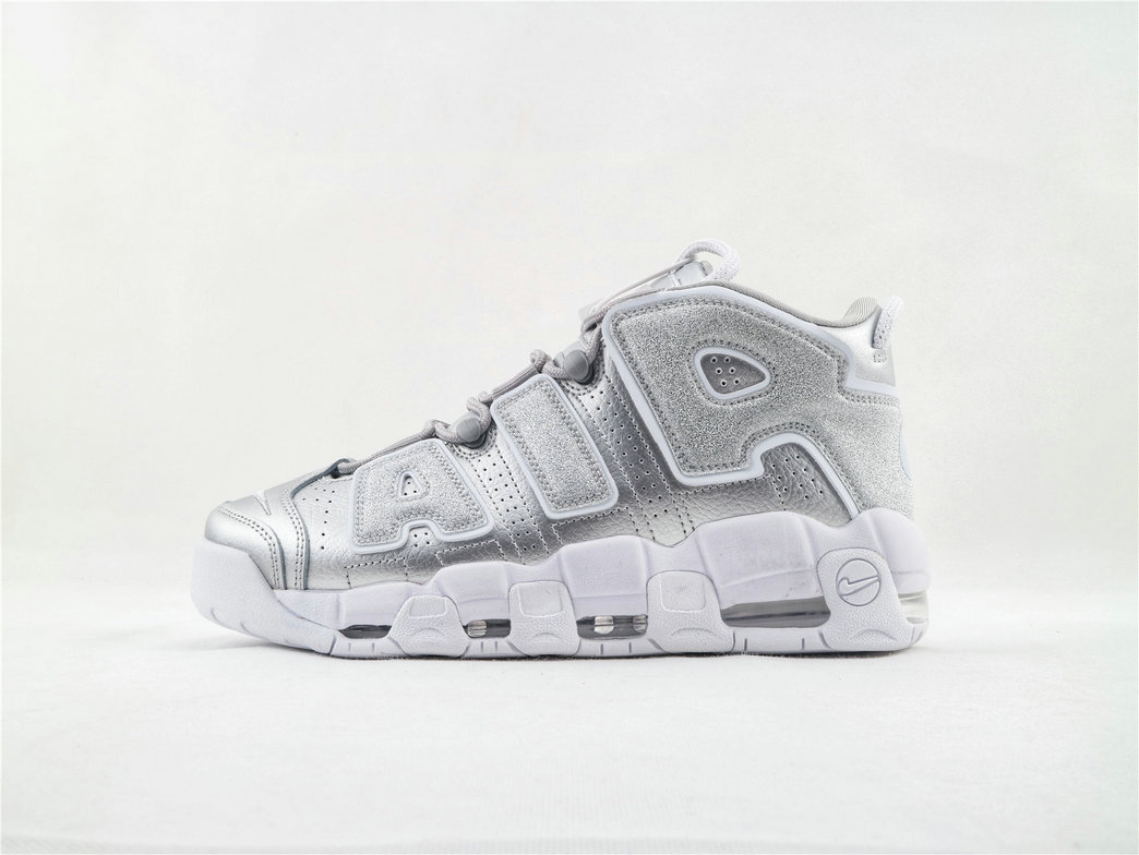 Where To Buy Wholesale Cheap Nike Air More Uptempo Metallic Silver 917593 003 - www.wholesaleflyknit.com