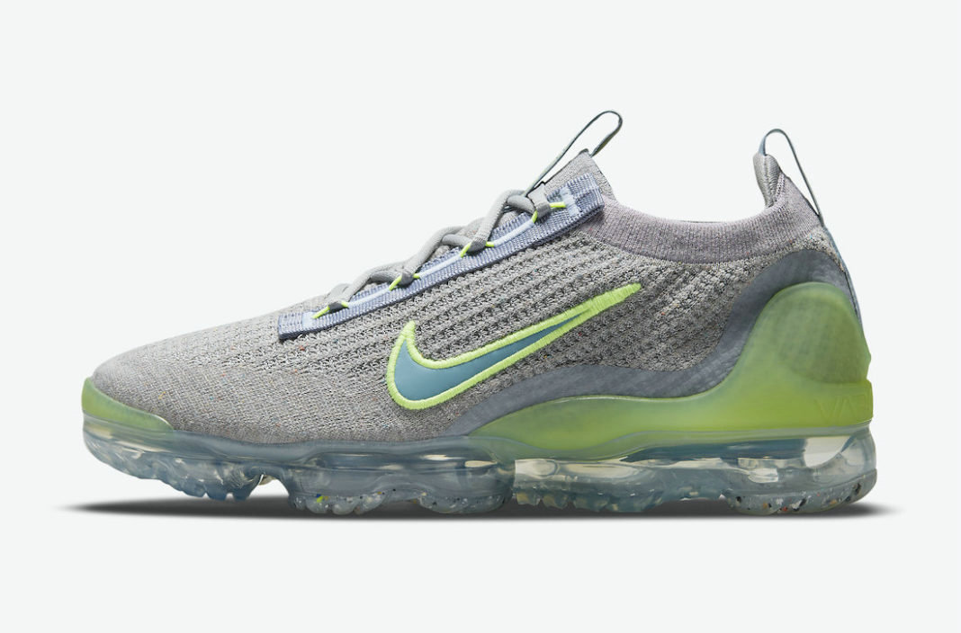 Where To Buy Cheap Wholesale Nike Air VaporMax 2021 Grey Neon DH4084-003 - www.wholesaleflyknit.com
