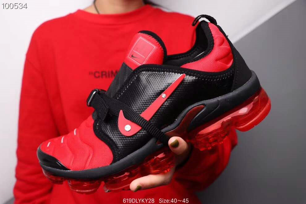 Where To Buy Wholesale Cheap Nike Air VaporMax Plus MOC Gym Red Black - www.wholesaleflyknit.com