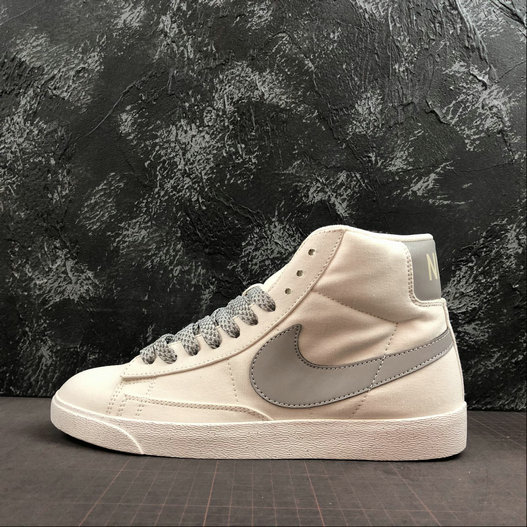Where To Buy Cheap Wholesale Nike Blazer Mid PRM VNTG Ivory White Space Silver CD8233-106 - www.wholesaleflyknit.com