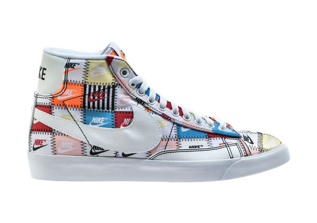 Where To Buy Cheap Wholesale Nike Blazer Mid White Multi Color Black Blanc Couleur Multiple CI9887-100 - www.wholesaleflyknit.com