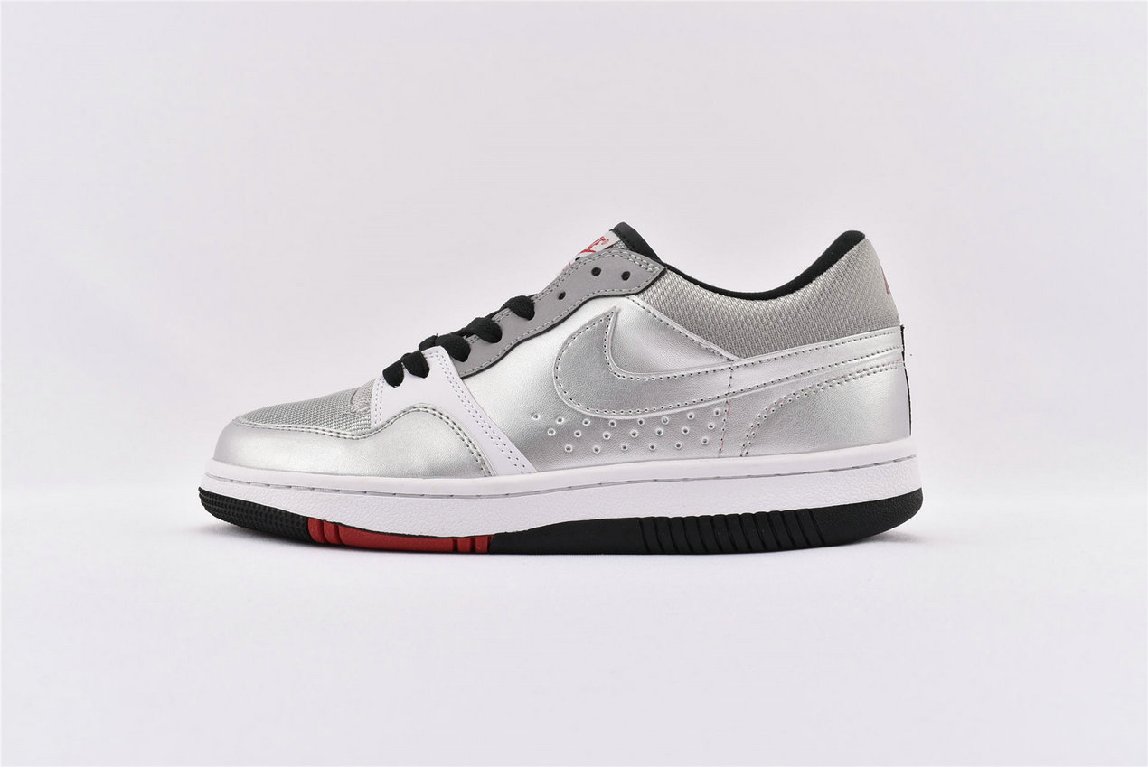 Where To Buy Wholesale Cheap Nike Court Force Low Basic Metallic Silver 314361-001 - www.wholesaleflyknit.com